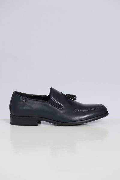 GIAN MARCO VENTURI Mocassini In Cuoio Mo0042  scarpe   MO0042NAVY