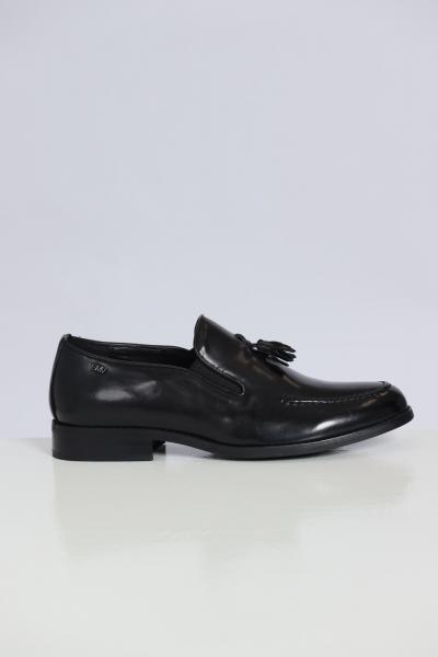GIAN MARCO VENTURI Mocassini In Cuoio Mo0042  scarpe   MO0042NERO