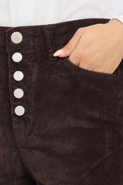 GLAMOROUS Pantaloni donna marrone glamorous modello casual con fondo ampio  Pantaloni | CK6192DARKBROWN