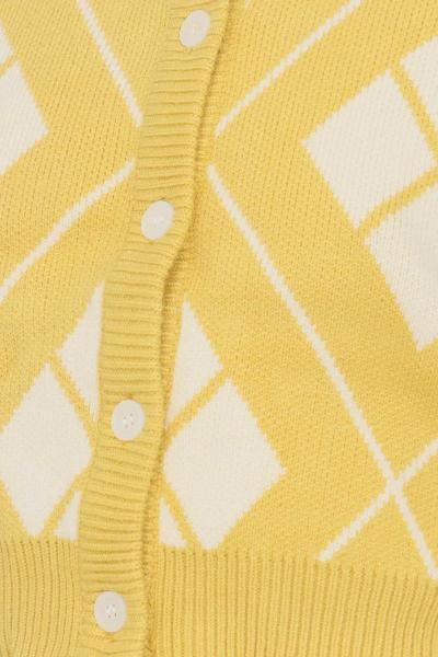 GLAMOROUS Cardigan donna giallo glamorous con bottoni sul davanti  Cardigan   CK6202YELLOWCREAM