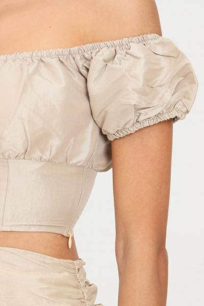 GLAMOROUS Top donna oro glamorous modello casual taglio corto  Top | GC0445PALEGOLD