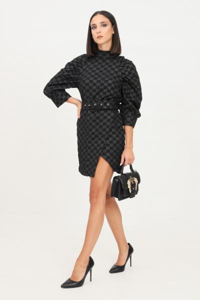 GLAMOROUS Abito donna nero glamorous taglio corto con cintura in vita  Abiti | GS0262BLACLCHECKERBOARD