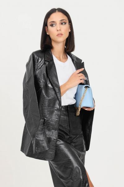 GLAMOROUS Giacca donna nero glamorous effetto coccodrillo  Giacche | GS0343BLACKPATENTCROC