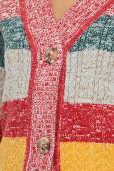 GLAMOROUS Cardigan donna multicolor glamorous chiusura frontale con bottoni  Cardigan   KA6875DARKREDMULTIMELANGE
