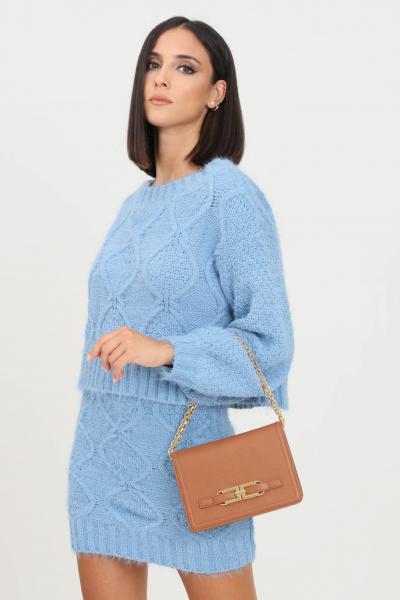 GLAMOROUS Maglioncino donna azzurro glamorous modello girocollo  T-shirt | TM0248HERITAGEBLUE