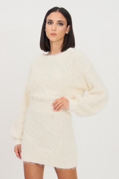 GLAMOROUS Maglioncino donna bianco glamorous modello girocollo  T-shirt | TM0248OFFWHITE