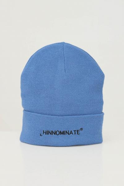 HINNOMINATE Cappello unisex azzurro hinnominate con ricamo logo frontale a contrasto  Cappelli   HNACA01CIELO