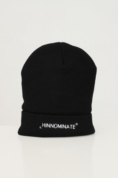 HINNOMINATE Cappello unisex nero hinnominate con ricamo logo frontale a contrasto  Cappelli   HNACA01NERO