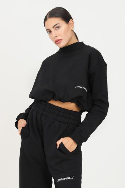 HINNOMINATE Felpa donna nero hinnominate girocollo con elastico sul fondo  Felpe | HNWSFCO28NERO