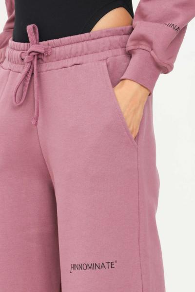 HINNOMINATE Pantaloni donna melanzana hinnominate casual con fondo ampio  Pantaloni | HNWSP04MELANZANA