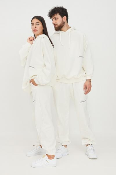 HINNOMINATE Pantaloni unisex bianco hinnominate modello casual con elastico in vita  Pantaloni | HNWSP38OFFWHITE