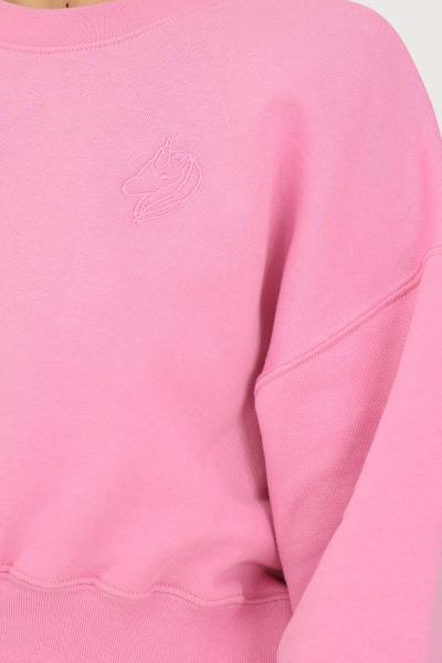 IRENE IS GOOD Felpa donna rosa irene is good girocollo taglio corto  Felpe | 21FW-IGCN007PINK