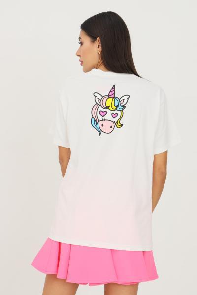 IRENE IS GOOD T-shirt donna bianco irene is good a manica corta con unicorno sul retro  T-shirt | 21FW-IGTS013WHITE
