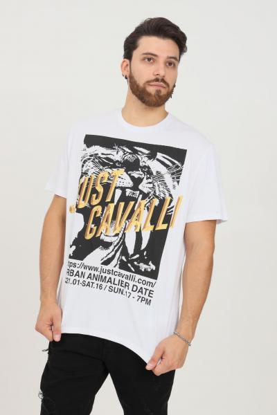 JUST CAVALLI T-shirt uomo bianco just cavalli a manica corta  T-shirt | S03GC0647100