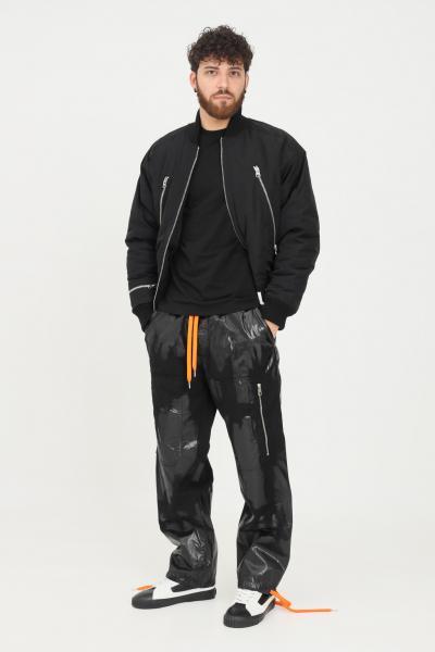 JUST CAVALLI Pantaloni uomo nero just cavalli casual con elastico in vita  Pantaloni | S03KA0258900