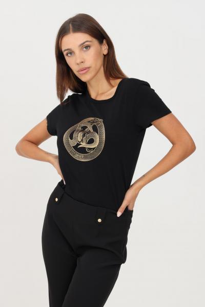 JUST CAVALLI T-shirt donna nero just cavalli a manica corta con stampa frontale  T-shirt | S04GC0409900
