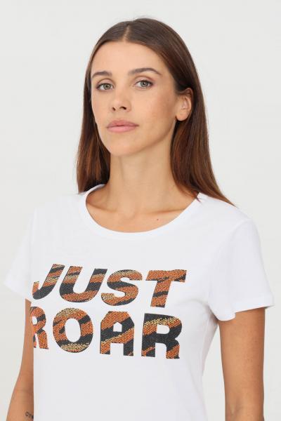 JUST CAVALLI T-shirt donna bianco just cavalli a manica corta con logo frontale  T-shirt | S04GC0414100