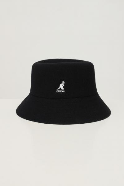 KANGOL Bucket unisex nero kangol con ricamo logo frontale  Cappelli | K3191STBK001