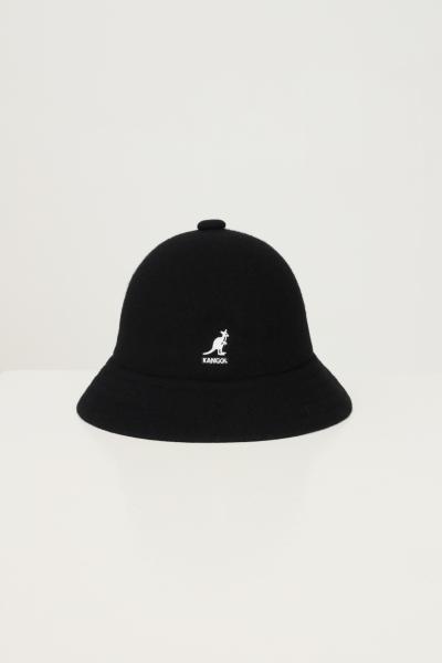 KANGOL Bucket unisex nero kangol in tinta unita con ricamo logo a contrasto  Cappelli | K3451BK001