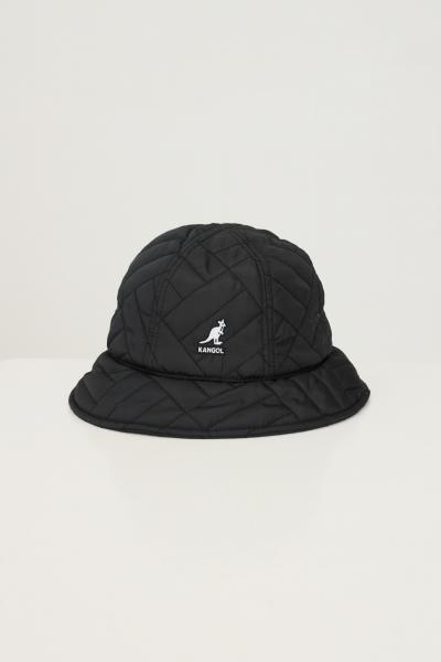 KANGOL Bucket unisex nero kangol con ricamo logo frontale  Cappelli | K4373BK001