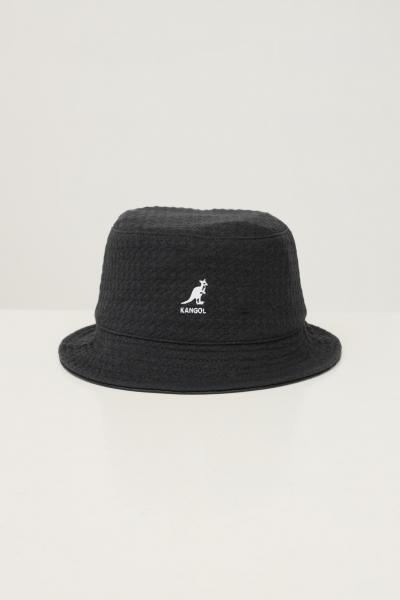 KANGOL Bucket unisex grigio scuro kangol con ricamo logo a contrasto  Cappelli | K5317BB001