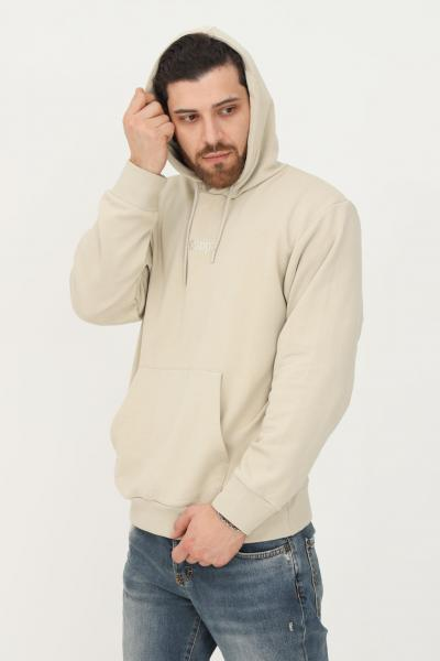 KAPPA Felpa uomo beige kappa con cappuccio e bande logo  Felpe | 361573WXPY