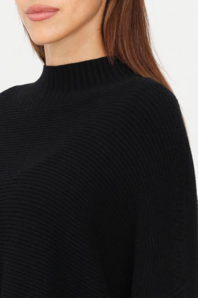 KONTATTO Maglioncino donna nero kontatto modello over  T-shirt | 3M8333NERO