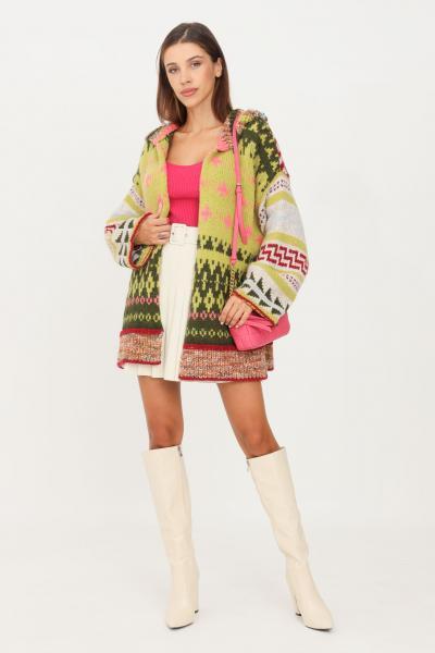 KONTATTO Cardigan donna multicolor kontatto con cappuccio  Cardigan | 3M8391VARIANTEACIDO