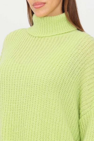 KONTATTO Maglioncino donna verde kontatto a collo alto con polsini elastici  T-shirt | 3M8408ACIDO