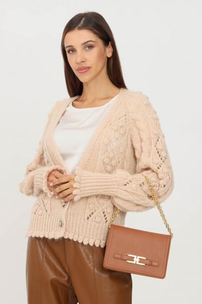 KONTATTO Cardigan donna beige kontatto con bottoni gioiello  Cardigan | 3M8416ECRU