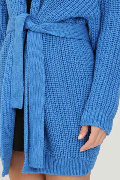 KONTATTO Cardigan da donna cobalto con cintura in vita  Cardigan | 3M8475COBALTO