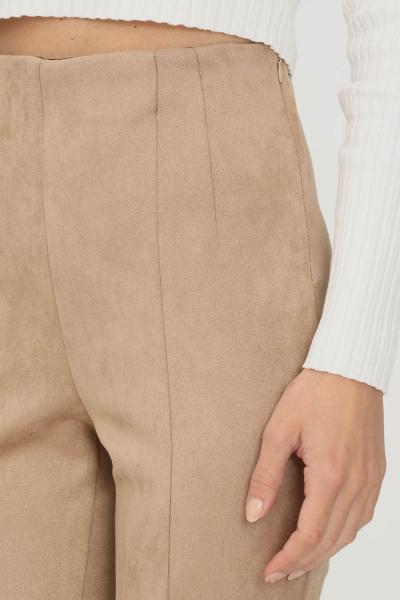 KONTATTO Pantaloni donna beige kontatto modello slim  Pantaloni | B4170TOAST