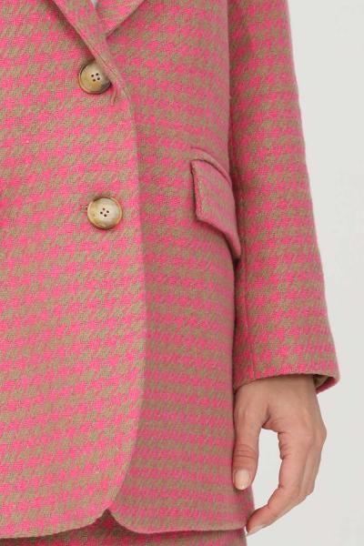 KONTATTO Giacca donna rosa kontatto con trama pied de poule  Giacche | CO444FUXIA