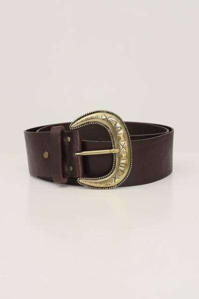 KONTATTO Cintura donna marrone kontatto con maxi fibbia oro antico  Cinture | NB700CIOCCOLATO