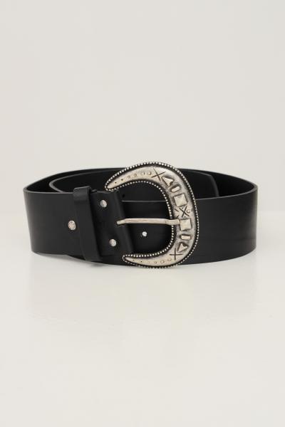 KONTATTO Cintura donna nero kontatto con maxi fibbia oro antico  Cinture | NB700NERO