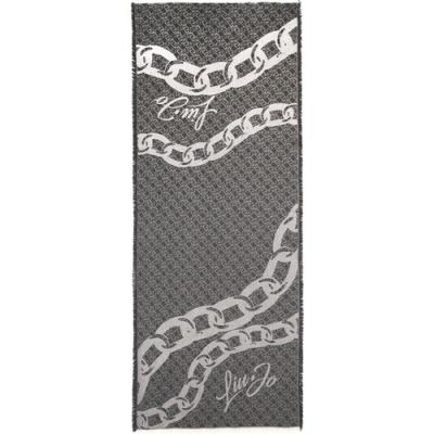 LIU JO Sciarpa donna fantasia liu jo con pattern logo  Sciarpe   2F1014T030022222