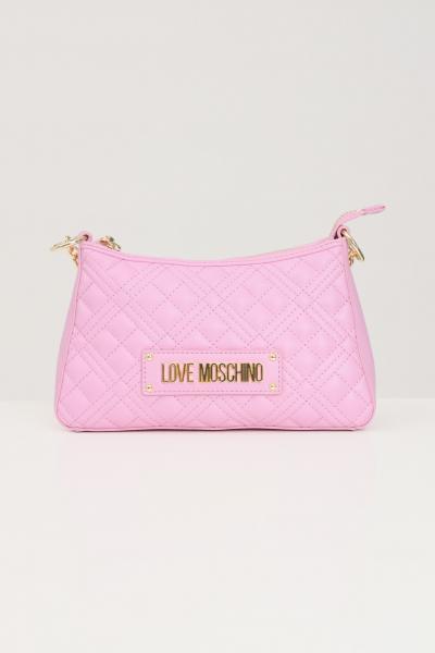 LOVE MOSCHINO Borsa donna rosa love moschino con manico in catena e tracolla  Borse | JC4135PP1D-LA0607