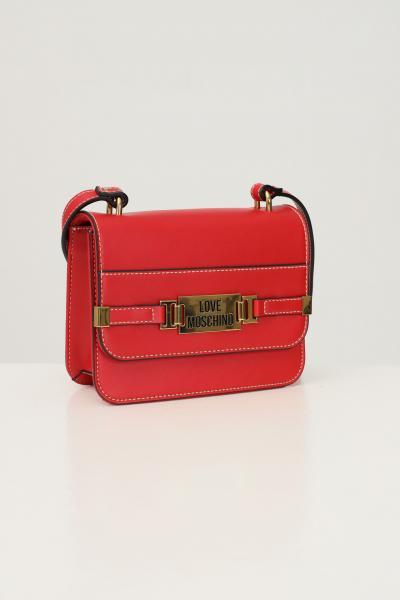 LOVE MOSCHINO Borsa donna rosso love moschino con tracolla e impunture a contrasto  Borse | JC4239PP0D-KB0500