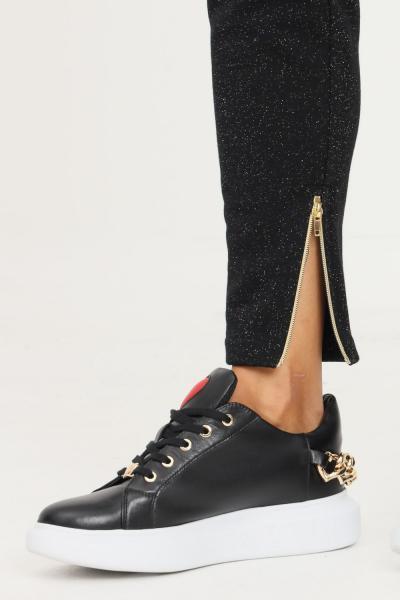 LOVE MOSCHINO Pantaloni donna nero love moschino casual con glitter allover  Pantaloni | W154305M4308C74