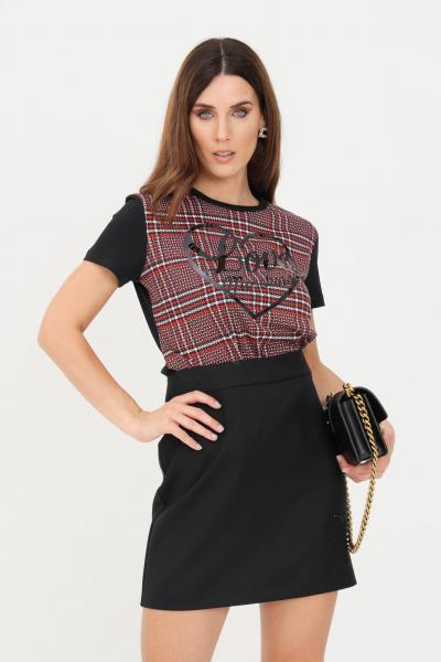 T-shirt donna nero con stampa bicolor  T-shirt | W4F731SM3517C74