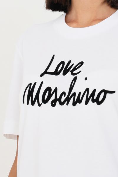 LOVE MOSCHINO T-shirt donna bianco love moschino con stampa sul fronte  T-shirt | W4H0618M3876A00