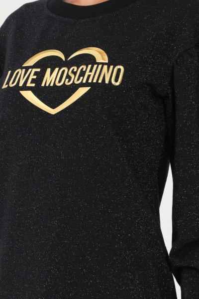 LOVE MOSCHINO Abito donna nero glitter love moschino taglio midi  Abiti | W5C4201M4308C74