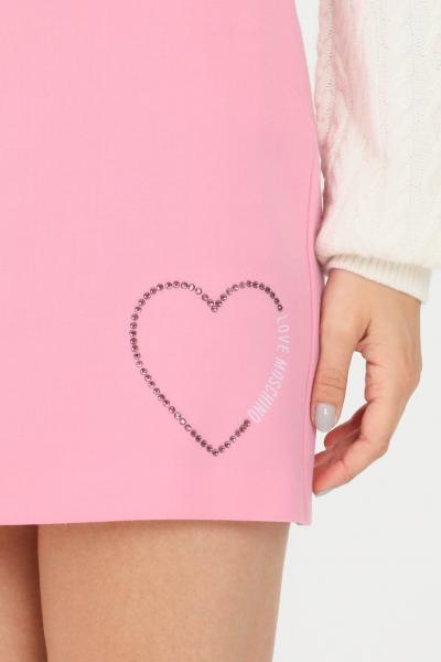 LOVE MOSCHINO Gonna donna rosa love moschino corta con zip invisibile  Gonne | WGE2902S3437L89
