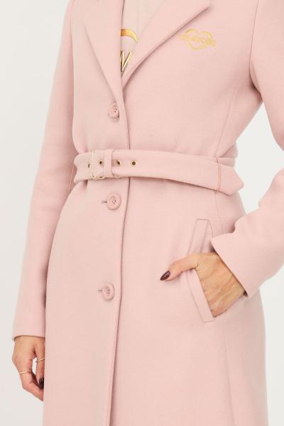LOVE MOSCHINO Cappotto donna rosa love moschino con cintura in vita  Cappotti | WK52301T008AM12