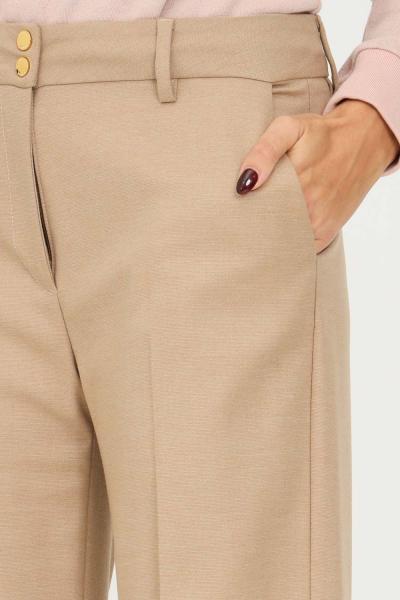 LOVE MOSCHINO Pantaloni donna marrone love moschino con ampio risvolto sul fondo  Pantaloni | WPA6901S3668F85
