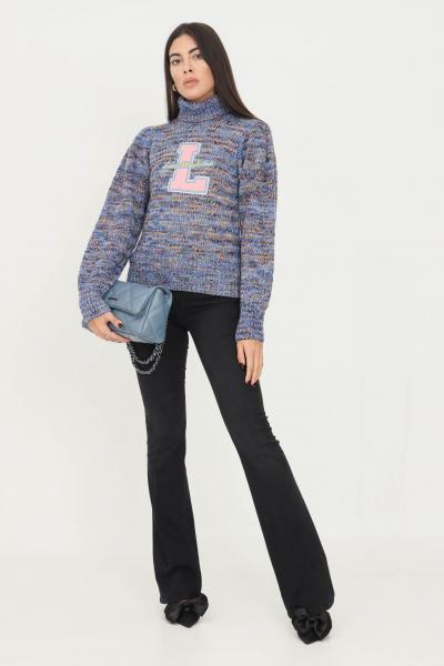 LOVE MOSCHINO Pantaloni donna nero love moschino modello casual con patch logo sul retro  Pantaloni | WQ46800S3683801W