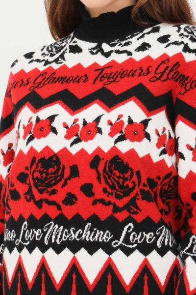 LOVE MOSCHINO Maglioncino donna love moschino con stampa all-over  T-shirt | WS79G10XA110C74