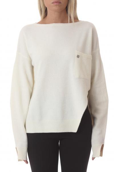 MANILA GRACE manila grace maglia scollo barca  T-shirt | M375WUMA148