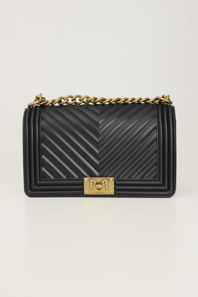 MARC ELLIS Borsa flat m donna nero marc ellis con tracolla fissa in tessuto e catena  Borse   FLATMBLACK/OTTONE