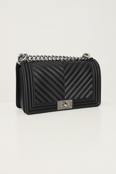 MARC ELLIS Borsa flat m donna nero marc ellis con tracolla fissa in tessuto e catena  Borse   FLATMBLACK/PALLADIO